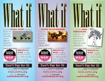 """What If"" flyers in color"