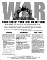 War: Your money? Your life? or neither?