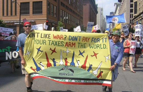 Don't like war? Don't pay for it. Your taxes arm the world.