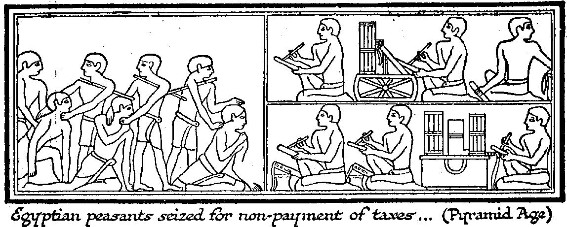 Wells_egyptian_peasants_taxes