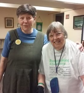 Pam Allee and Ann Huntwork at the redirection ceremony.