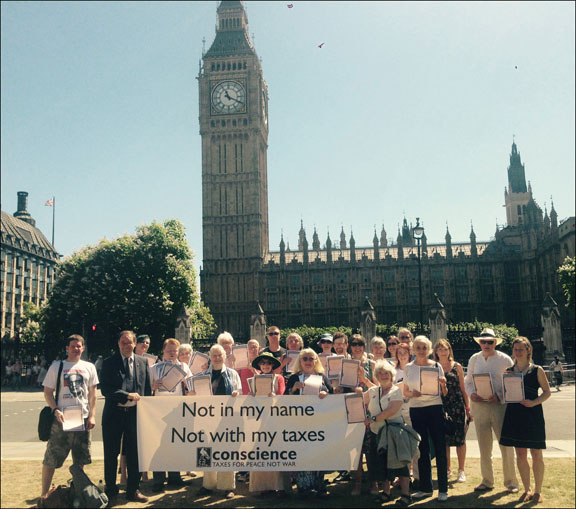 Bill supporters outside Parliament. Photo courtesy of Conscience