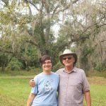 Erica and David and Spanish moss