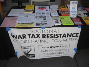 NWTRCC literature table with many different leaflets