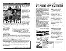 Never Again (a Hiroshima Day war tax resistance flyer)