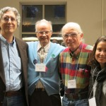 photo of four conference attendees, including Peter Goldberger and Brad Lyttle
