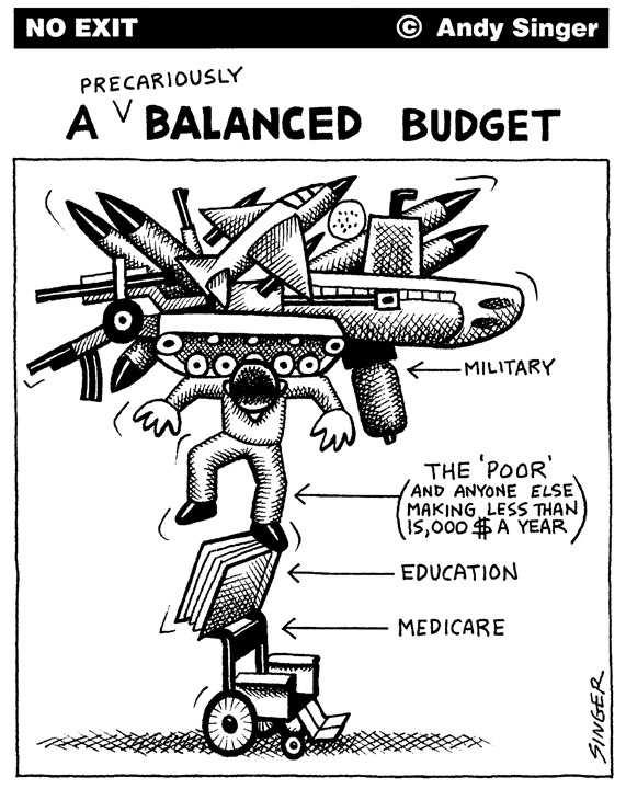 balanced budget cartoon