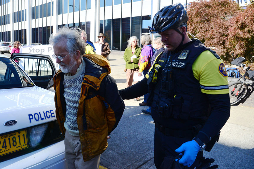 Jack Herbert under arrest