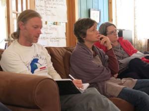 Jason Rawn, Margaret and Ginny at New England Gathering