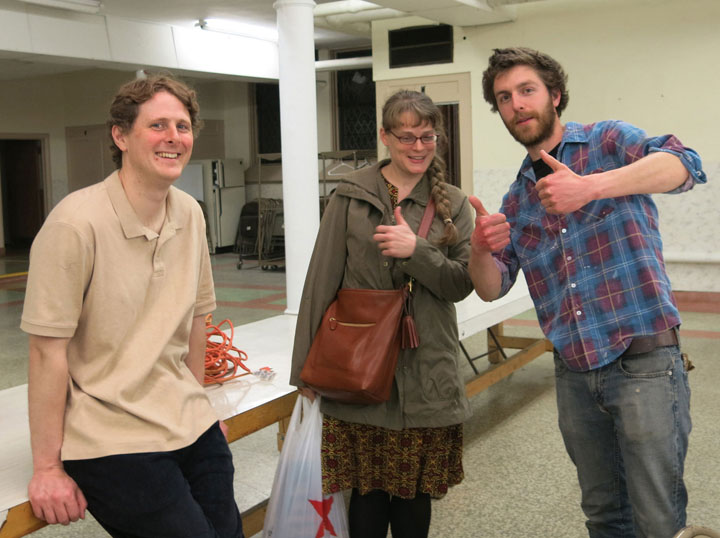 Lincoln, Laura, and Colm gave their thumbs up to NWTRCC's gathering in Milwaukee in May 2015. We hope that you will joins us in Pennsylvania May 13-15 - or plan to come to a future gathering and share your stories, concerns, and organizing ideas in person. Photo by Ruth Benn