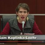 Sam Koplinka-Loehr, NWTRCC Field Organizer, testified at the Iraq Tribunal on Friday, December 2nd about the costs of the war. Her testimony is below.