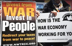 tax day Protest at IRS with veterans for peace