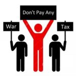 pay no war tax chicago graphic