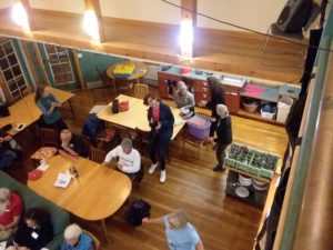 overhead shot from Saturday night at the November 2017 gathering in Amherst