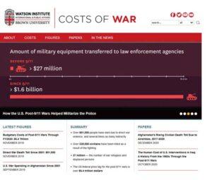 Cost of War Website