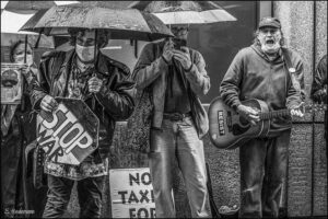 Tax protest, NYC. April 15, 2021