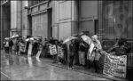 Line of pickets at IRS NYC