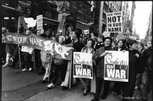 October 7 2001 antiwar march